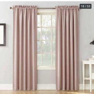 SET OF 4 Sunzero curtain panels, blush, 40x84